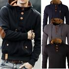 Kyпить Stylish Men's Slim Warm Hooded Sweatshirt Hoodie Coat Jacket Outwear Sweater New на еВаy.соm