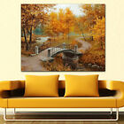 DIY Diamond Bridge Forest Landscape Embroidery Painting Stitch Craft Home Decor