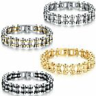 13MM Biker Mens Motorcycle Chain Stainless Steel Bracelet Rock Link Wristband