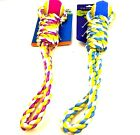 "TOY TIME OR WAG IN WOOF TUG FETCH ROPE TENNIS BALL DOG TOY 16"" LOOP WITH BALL"