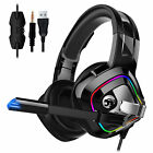 Gaming Mic Headset Stereo Headphone For PS5/Nintendo Switch/Xbox One/PC/Computer