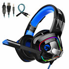 3.5mm LED Gaming Headset Mic Headphone Stereo Bass Surround for PS5 PS4 Xbox One