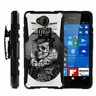For Microsoft Lumia 650 | Rugged Armor Impact Hard Rubber Cover + Belt Clip