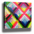COLOUR LINES GRAFFITI STREET ART HIGH QUALITY CANVAS PRINT CHOOSE SIZE/FRAME