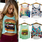 Pop Women Girls Summer Vest Tank Tops Digital 3D Print Emoji Blouse T Shirt EWUK