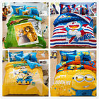 Minions 100% Cotton Quilt/Duvet/Doona Covers Pillowcases Set Queen King Bed Size