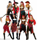 Womens Pirate Fancy Dress Costumes Caribbean Shipwreck Wench Outfit Ladies Seas