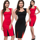 Summer Women Sexy Vintage Sleeveless Casual Party Evening Cocktail Mini Dress