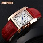 SKMEI Women's Casual Gold Waterproof Leather Elegant Retro Square Quartz Watch