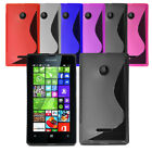 Slim Soft Wave Gel Case Soft Phone Back Cover For Microsoft Lumia 435 & Screen