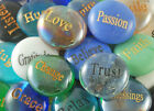 Glass Engraved Spirit Word Stones Sold Individually