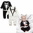 Newborn Baby Infant Boys Outfits Jumpsuit Romper Gentleman Suit 0-24 Months