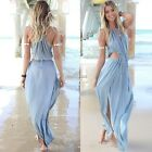 2016 Ladies Boho Sexy Summer Sleeveless Sundress Evening Party Long Maxi Dress