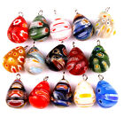 30pcs Millefiori Glass Tear Drop Pendants Charms For Jewelry Making