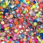Surgical Steel 10 MIXED BELLY BARS WHOLESALE JOBLOT 14ga (1.6mm) Body Jewellery
