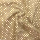 TAN / BEIGE colour POLKA DOT 100% cotton fabric  per FQ, half metre or metre
