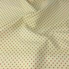 IVORY / PINK POLKA DOT 100% cotton fabric  per FQ, half metre or metre
