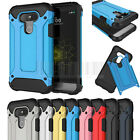 Rugged Hybrid Shockproof Cover Hard Rubber Bumper Protective Case For LG G5