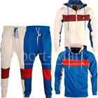 Mens Soulstar Contrast Panels Mesh Details Tracksuit Sports Hooded Track Set Top