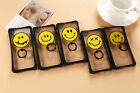 Fashion Cute Smile face Ring Stand Holder Clear Hard Case Cover F iphone 6/plus