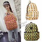 Girl Emoji Canvas Shoulder School BookBags Backpacks Travel Satchel Rucksack HOT
