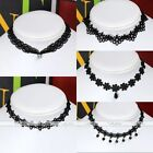 Fashion Hollow Flower Black Lace Choker Collar Necklace Women Ladies Jewelry