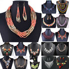 Hot Women Jewelry Pendant Crystal Rhinestone Chunky Statement Necklace 66 Styles