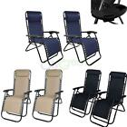 Outdoor Zero Gravity Lounge Chair Beach Patio Pool Yard Folding Recliner
