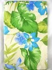 Assorted Sizes Blue Floral with Butterflies & Foliage Vinyl Tablecloth FREE SHIP