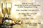 Personalised Invitations Wedding / Engagement Party / Anniversary / Vow Renewal
