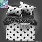 Stars Duvet Cover Cotton Double Queen Size Bed Linen Quilt/Doona Cover Set New