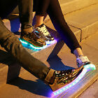 Unisex High Top LED Light Lace Up Sportswear Sneaker Luminous Shoes Casual New