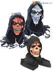 Adult Halloween Hooded Corpse Zombie Mask Skeleton Latex Fancy Dress Costume