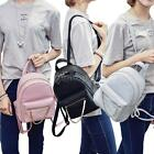 Women Mini Backpack Shoulder Bags Satchel Leather Small Leather Rucksack S6U4