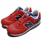 New Balance ML574UTB D Red Blue Suede Mens Running Shoes Trainers ML574UTBD