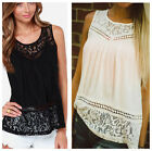 Fashion Womens Summer Vest Top Sleeveless Shirt Blouse Casual Tank Hollow Shirt