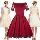 Short Sleeve Retro Vintage 50s Swing Pin Up Party Cocktail Dress Summer TEA Ball