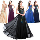 Womens Vintage Chiffon Plus Size Bridesmaid Evening Cocktail Dress Formal Gowns