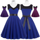 BP Retro Vintage Party Evening Dress 50s Pinup Swing Sleeveless Cocktail Prom