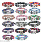 Fashion Snap Button Single Bangles 21cm Jewelry Bracelet