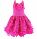 Posh Sparkly Fuchsia Eyelash Chiffon Pink Tutu Dress, 6M-5/6 USA Cupcakes Kisses