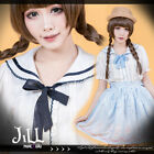 lolita liz lisa country picnic lace sailor collar scalloped shirt w/ tie 81905