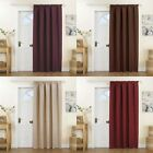 Curtina Kent Thermal Pencil Pleat Lined Door Curtain Panel, 66 x 84 Inch