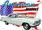1962 White Chevy Impala b Custom Hot Rod USA T-Shirt 62, Muscle Car Tee's