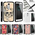 For Droid Turbo 2| Kinzie| X-Force| Slim Fit Hard 2 Piece Case Butterfly Skull