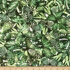 BUTTERFLY FOREST PACKED GREEN CRAFT QUILT SEWING FABRIC *** Free Oz Post ***