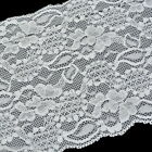 "Gift Wholesale White Stretch Lace Edge Trim 5-7/8"" wide"