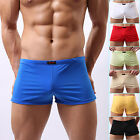 Mens Sexy Smooth Underwear Shorts Trunks Penis Pouch Underpants Boxers Lingeries
