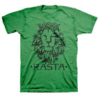 BOB MARLEY RASTA LION GREEN BRAND NEW OFFICIALLY LICENSED ZION ROOTSWEAR T-SHIRT