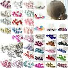 New 10/20Pcs Rose Flower Crystal Wedding Party Bridal Prom Star Hair Pin Clips